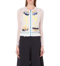 Peter Pilotto Embroidered Mesh Jacket White