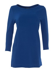 Lands' End Starfish French Terry Boatneck Tunic Cobalt