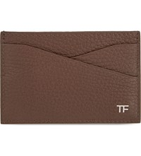 Tom Ford Grained Leather Card Holder Chocolate