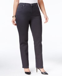 Styleandco. Style Co. Plus Size Tummy Control Straight Leg Jeans Only At Macy's Carbon Grey