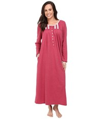 Eileen West Long Sleeve Ballet Nightgown Red Heather Women's Pajama Pink