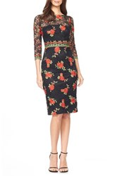 David Meister Women's Embroidered Lace Sheath Dress