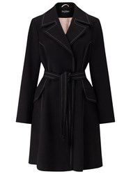 Miss Selfridge Contrast Stitch Coat Black