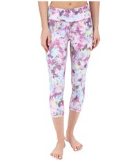 Zobha Louie Printed Straight Leg Capris Sparkling Grape Women's Capri Purple