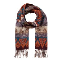 East Jacquard Paisley Scarf Turquoise