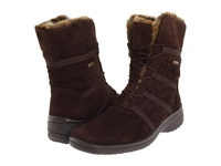 Ara Magaly Gore Tex Brown Synthetic Suede W Beige Fur Trim Women's Lace Up Boots