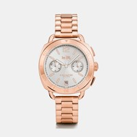 Coach Tatum Rose Gold Tone Sunray Dial Bracelet Watch