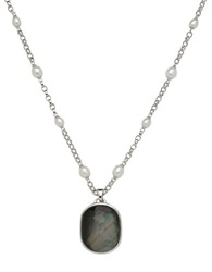 Honora Style Sterling Silver And Fresh Water Pearl Doublet Necklace