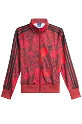 Adidas Originals Printed Zipped Jacket Red