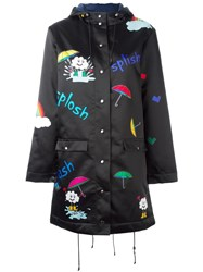 Mira Mikati Hooded Raincoat Black