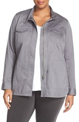 Sejour Plus Size Women's Twill Utility Jacket