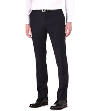 Corneliani Regular Fit Tapered Wool Trousers Navy