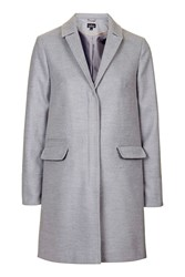 Topshop Tall Slim Pocket Coat Grey