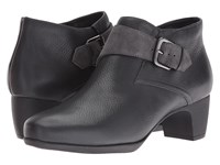 Softwalk Imlay Dark Grey Veg Tumbled Leather Cow Suede Women's Boots Gray
