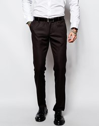 Sisley Suit Trousers In Slim Fit Bordeaux