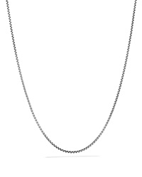 David Yurman Box Chain Necklace With Silver And Gold Silver Gold