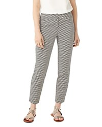 Phase Eight Erica Basketweave Print Trousers Grey Ivory