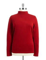 Joseph A Plus Mock Turtleneck Sweater Red Rum