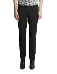 Pink Tartan Straight Leg Pants Black
