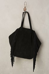 Anthropologie Sybil Fringe Tote Black
