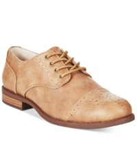 White Mountain Saint Tailored Lace Up Oxfords Women's Shoes Tan