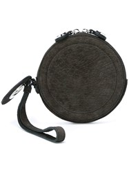 Carven Round Clutch Grey