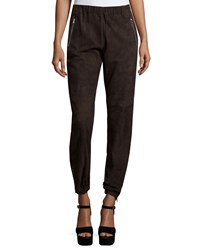 Michael Kors Slim Leg Track Pants Chocolate