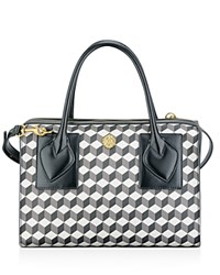 Anne Klein Medium Bey Satchel Grey Multi. Black