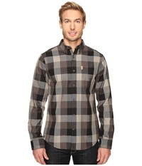Fjall Raven Ovik Big Check Shirt L S Black Men's Clothing