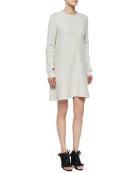 Proenza Schouler Long Sleeve Wool Cashmere Ribbed Dress