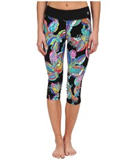 Trina Turk Sea Garden Mid Length Leggings Multi Women's Workout