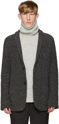 Robert Geller Grey Knit Richard Jacket