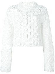 Maison Martin Margiela Cable Knit Sweater White