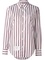 Thom Browne Striped Button Down Shirt White