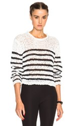 T By Alexander Wang Cropped Sweater In Stripes White