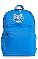 Men's Kenzo Embroidered Tiger Backpack Blue Bright Blue