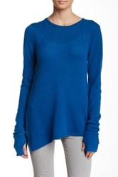 Cullen Thumbhole Cashmere Sweater Blue