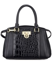 Anne Klein Total Look Small Satchel Black Black