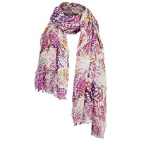 Fat Face Kaleidoscope Butterfly Scarf Pink