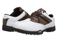 Callaway Chev Comfort White Brown Black Men's Golf Shoes
