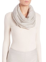 Akris Two Toned Cashmere Scarf Gravel