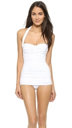 Norma Kamali Bill Mio One Piece Swimsuit White