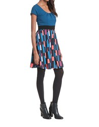 Plenty By Tracy Reese Patterned Fit And Flare Dress Bright Tiles