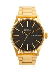 Nixon Sentry Ss Gold Finish Watch