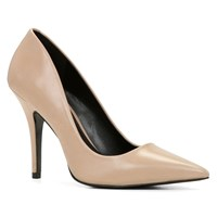 Aldo Elisia Pointy Toe High Heel Shoes Bone