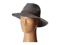 San Diego Hat Company Knh8008 Machine Knit Fedora W Braided Suede Trim Grey Traditional Hats Gray