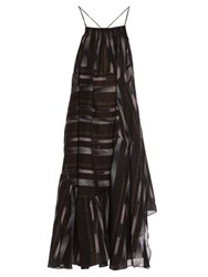 Rachel Comey Mosaic Ikat Print Cotton Voile Dress Black Multi
