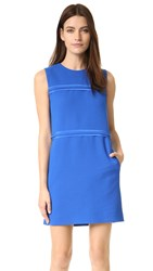 Victoria Beckham Panel Shift Dress Curacao Blue