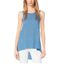 Michael Kors Linen Tank Top Cool Blue
