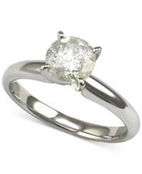 Macy's Diamond Solitaire Engagement Ring 1 1 4 Ct. T.W. In 14K White Gold